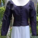 Navy silk jacket: size 10