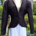 Black tafetta theatrical jacket: size 12