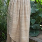 Raw silk wrap around skirt