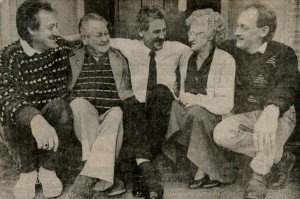 Tim Allan (centre) with his parents and brothers. From left: Garry, Alex, Marjorie and Kevin Haftka