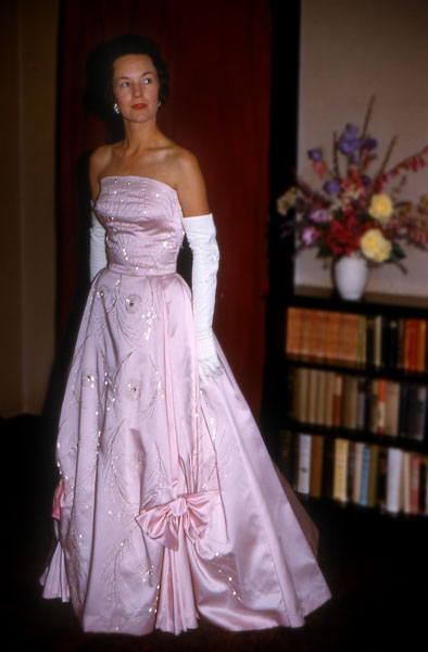 Pink dress by Tim Allan